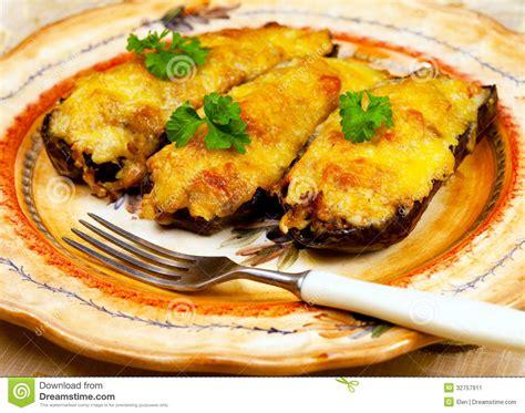 cuisine greque cuisine grecque chaussures d aubergine image stock