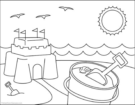 summer coloring pages free large images