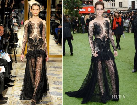 Who Wore Marchesa Better Morrison Or Snow by Kristen Stewart In Marchesa Snow White And The Huntsman