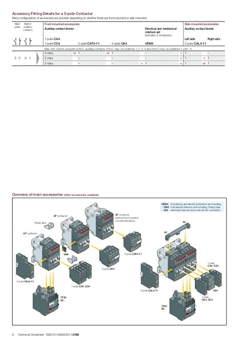 abb contactor wiring diagram electrical schematic