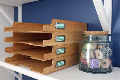 How To Make A Tray Out Of Paper - stylish paper and magazine storage school of decorating