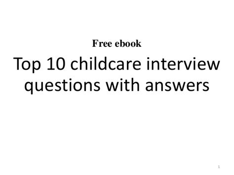 top 10 childcare questions and answers