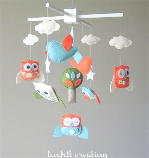 Baby Crib Mobile Baby Mobile Custom Baby Mobile Owl Mobile For Babies Crib