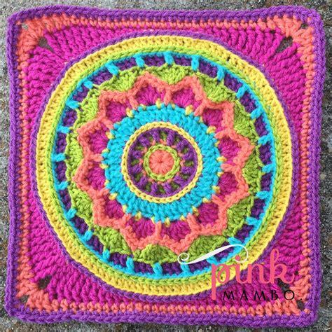 design the dream com dream circle 12 quot crochet square and mandala pink mambo