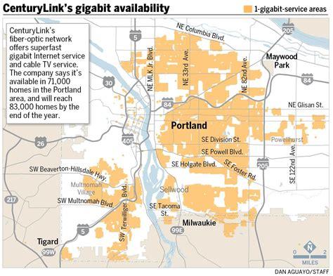 centurylink service area map centurylink maps its gigabit footprint in portland