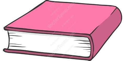 cartoon clipart pink hardcover book
