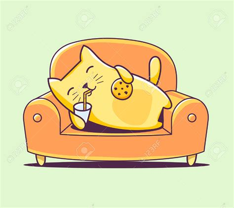 cat on sofa sofa clipart cat pencil and in color sofa clipart cat