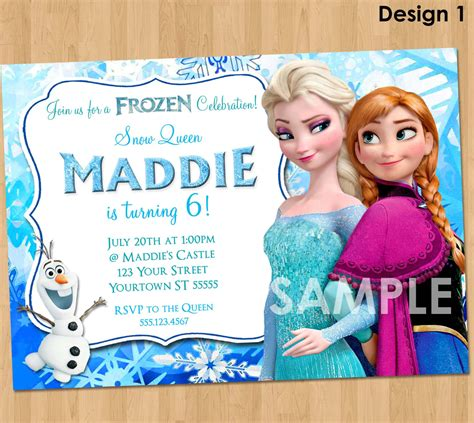 printable frozen birthday party invitations frozen invitation frozen birthday invitation disney frozen