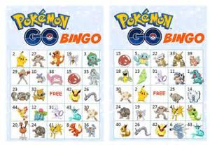 40 printable pokemon go bingo cards prefilled pokemon clip