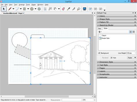 sketchup layout ortho sketchupbestanden invoegen in layout