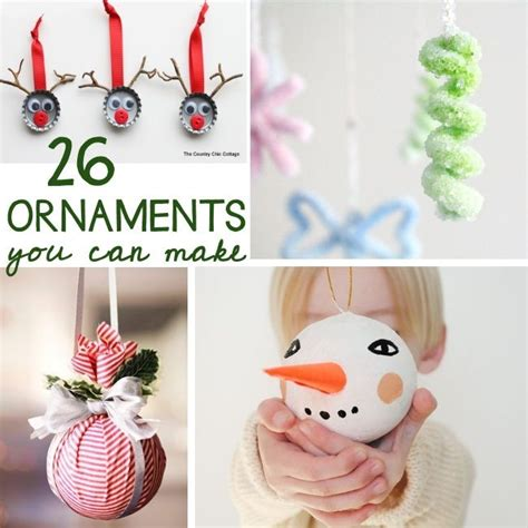 26 ornaments that you can make