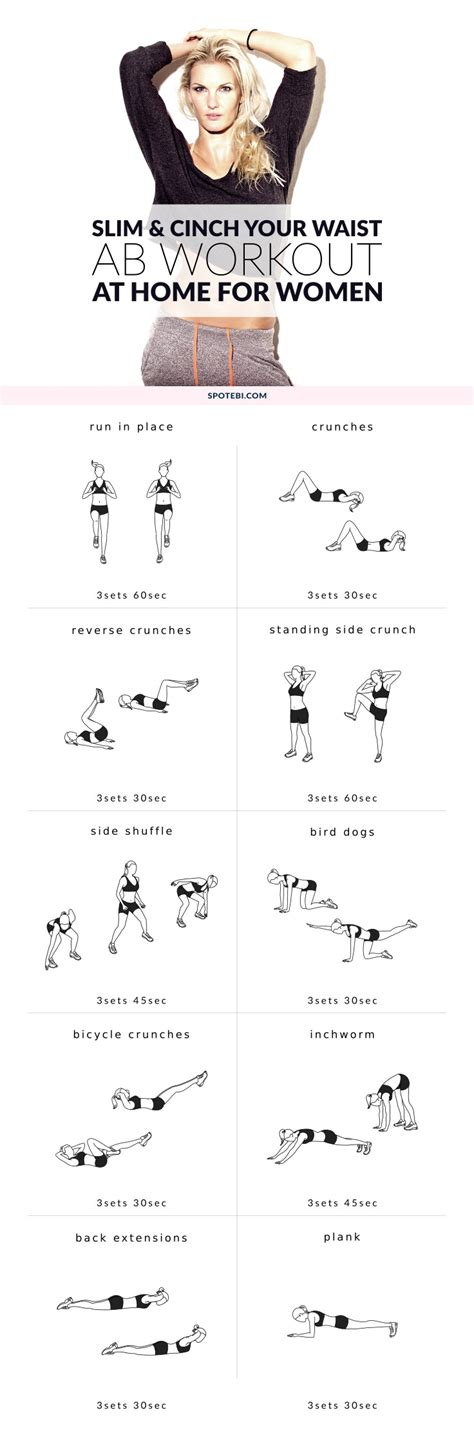 beginner workout plan for women at home beginner ab workout for women