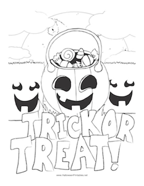halloween coloring pages trick or treat halloween trick or treat coloring page