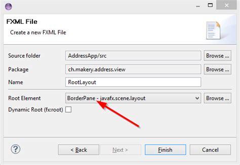 javafx layout root javafx 8 tutorial part 1 scene builder code makery ch