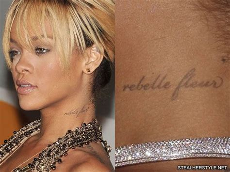 rihanna neck tattoo rihanna s tattoos meanings style