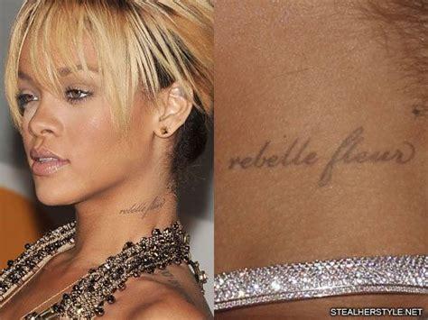 rihanna side tattoo rihanna s tattoos meanings style
