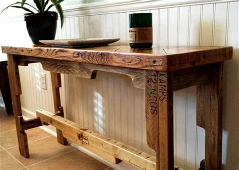 Sofa Table Made From Pallets Diy Pallet Chevron Sofa Side Table 101 Pallets