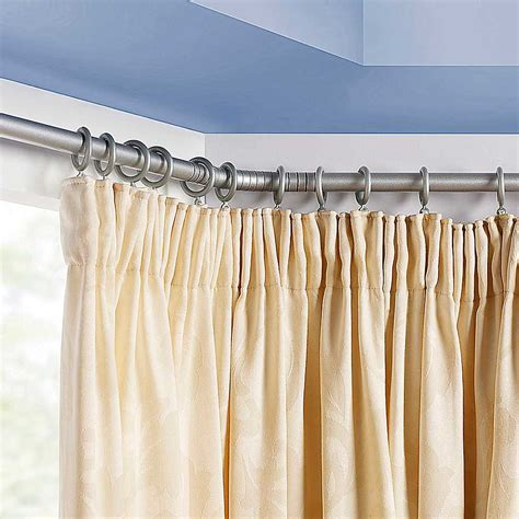 Double Sided Shower Curtain Bay Window Pole Set Look Again