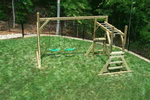 backyard playground crafted wooden playsets swing