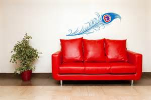 Peacock Feather Wall Sticker Peacock Feather Vinyl Wall Art Decal Sticker By