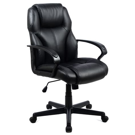 pu leather ergonomic high  executive computer desk task office chair black ebay