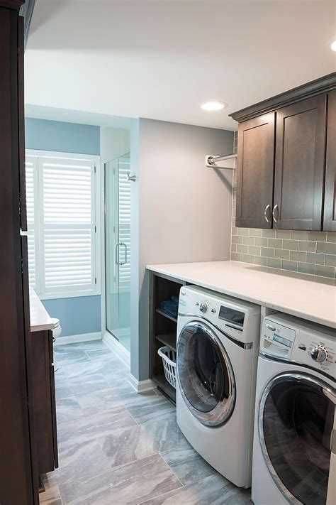 flooring in the bathroom and laundry room column rearranging floor plan creates full bath laundry