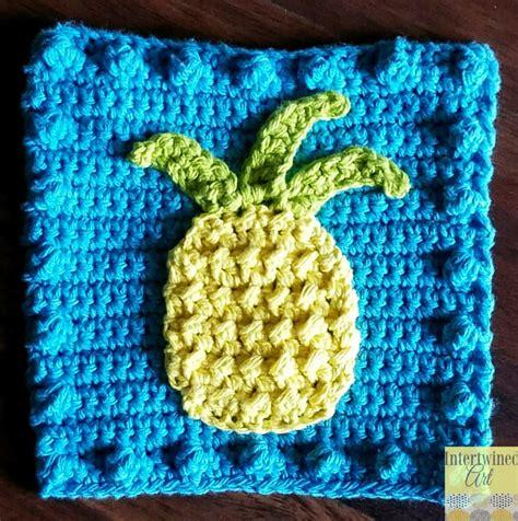 Pineapple Crochet Baby Blanket Pattern by Pineapple Applique Blanket Square Allfreecrochet