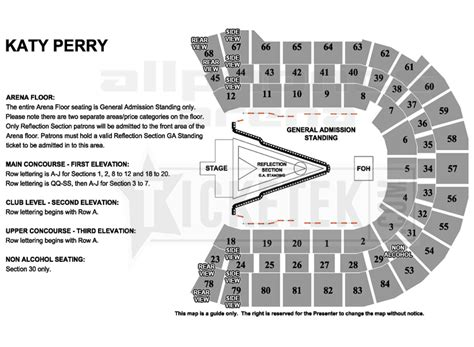 allphones arena floor plan katy perry the prismatic world tour