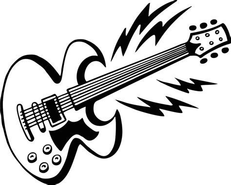 guitar coloring pages to download and print for free