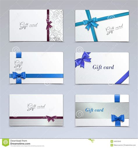 paper cards template gift cards set stock vector image 44813343