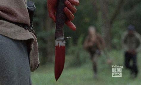 knives in the walking dead the walking dead season 4 recap episode 14 the grove