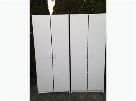 Garage Cabinets White Melamine White Melamine Garage Storage Cabinets With Doors Oak Bay