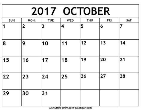 Ebc Calendar October 2017 Calendar Free Printable 2017 Calendars