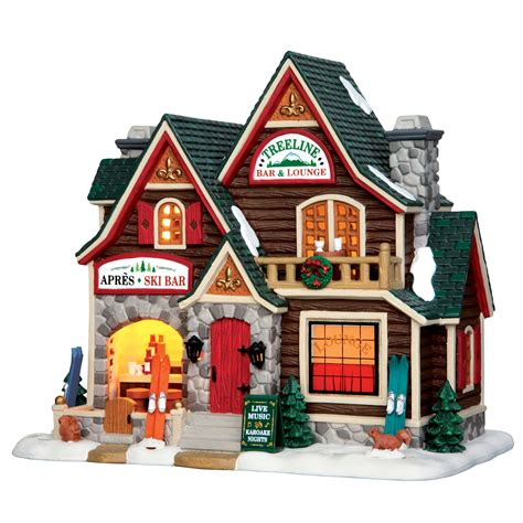 lemax christmas villages lemax collection vail treeline bar and lounge building