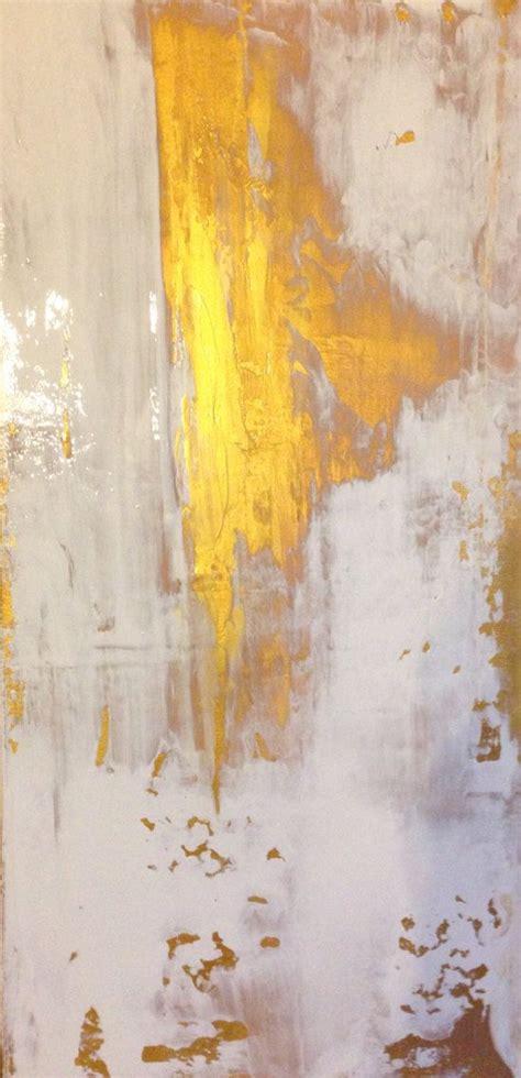 gold abstract painting abstract painting gold and white 12x24