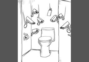 is it illegal to put cameras in bathrooms should there be cctv cameras in toilet stools in order to