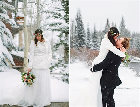 Winter Cabin Wedding by Snowy Winter Cabin Wedding Inspired By This
