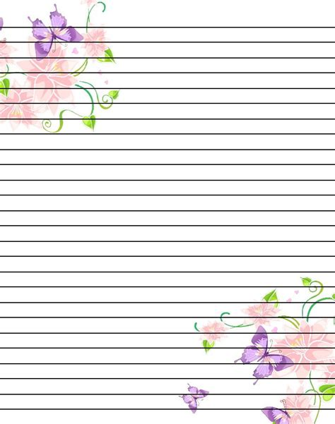 printable composition notebook paper free printable flower notebook paper google search