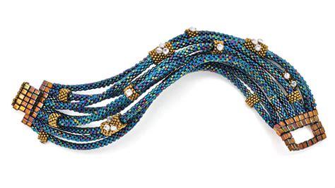 multi strand multi strand stitched bracelet facet jewelry