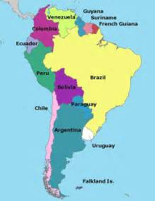 south america map with capitals map of south america elizabeth the
