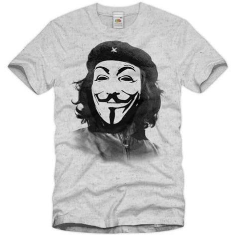 T Shirt Anonymous 03 anonymous che guevara t shirt fawkes occupy maske acta
