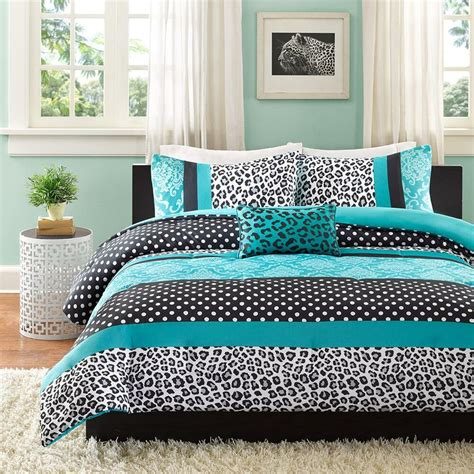 Teal Bedding by Beautiful Blue Pink Aqua Teal Leopard Zebra Polka Dot