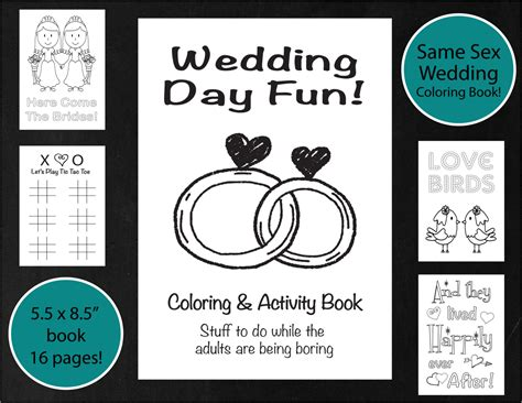 wedding coloring and activity book same sex wedding coloring activity book brides lesbian