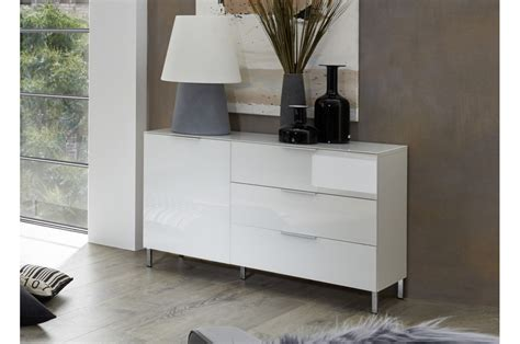 commode basse commode basse contemporaine blanche amazone cbc meubles