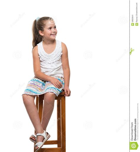 little girl on chair little girl sitting on the chair stock image image 58820641