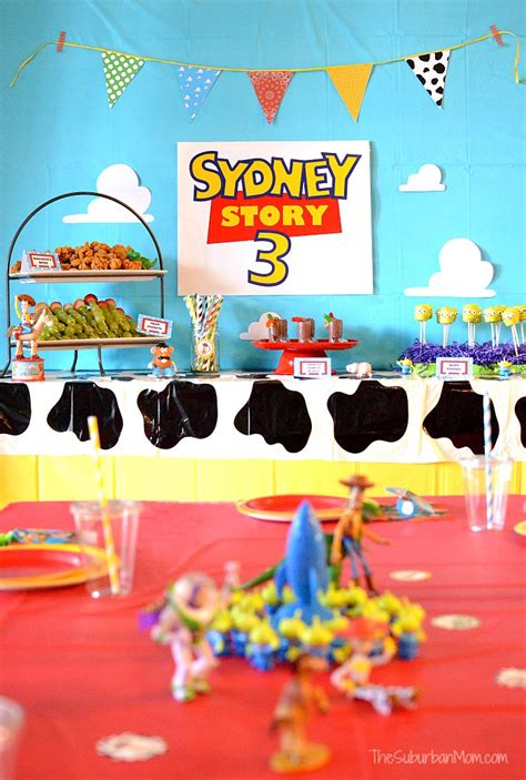 themes in old story time toy story birthday party ideas