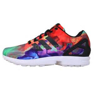 colorful shoes adidas original zx flux st tropez torsion multi color