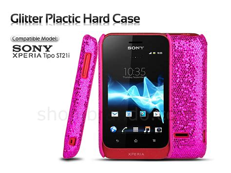Casing Hp Sony Xperia Tipo sony xperia tipo st21i glitter plactic
