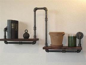 Blown Glass Wall Sconce Industrial Plumbing Pipe Shelf By Vintage Pipe Dreams