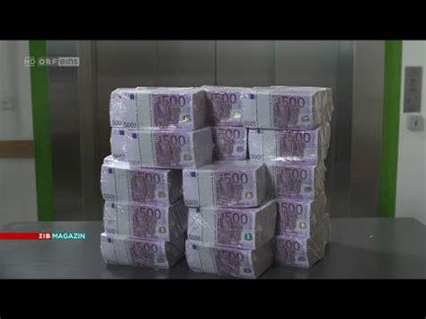 ende des  euro scheins orf zib magazin youtube